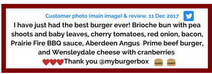 myBURGERbox Customer Review